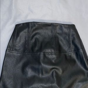 ASOS Skirts - ASOS EUC Pleather midi black pencil skirt